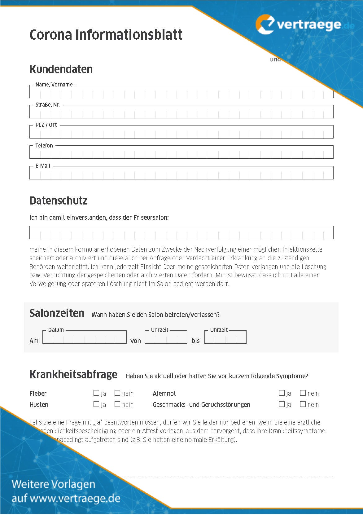 BGW_Kundenformular_Corona
